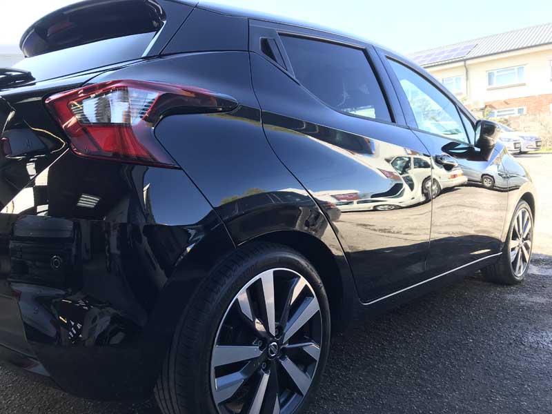 shiney black car