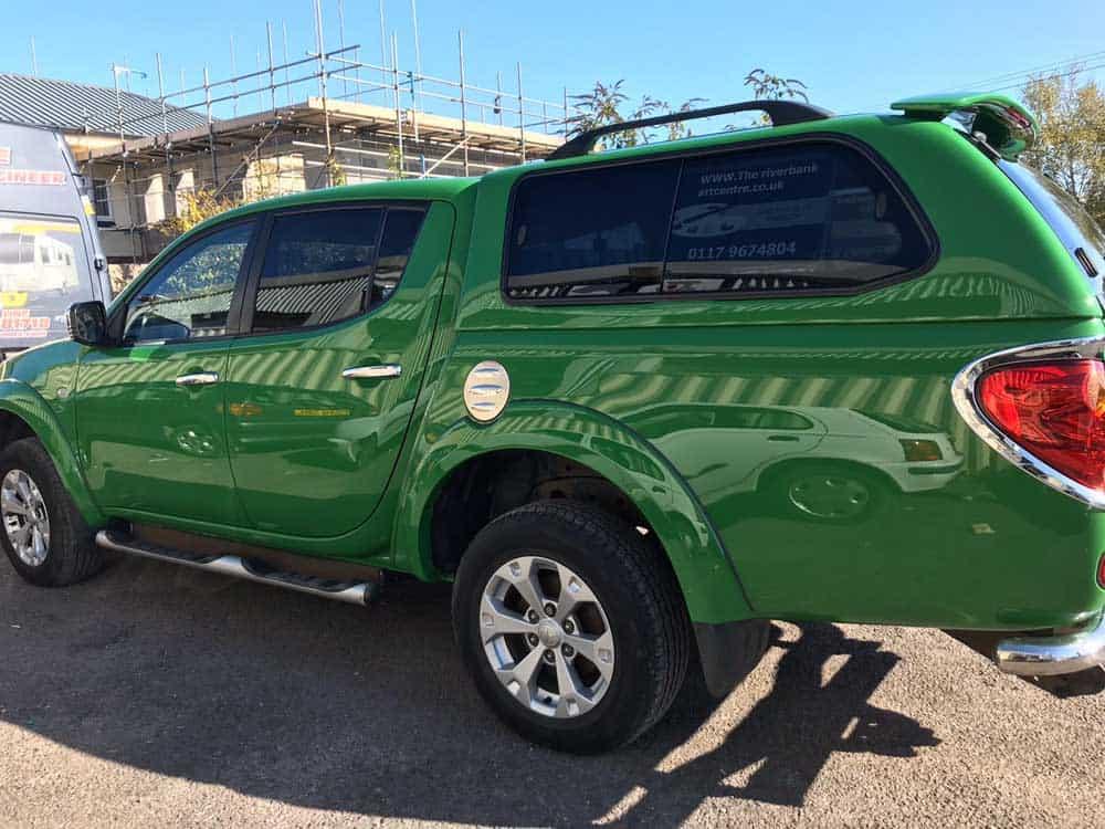 green Mitsubishi fully resprayed